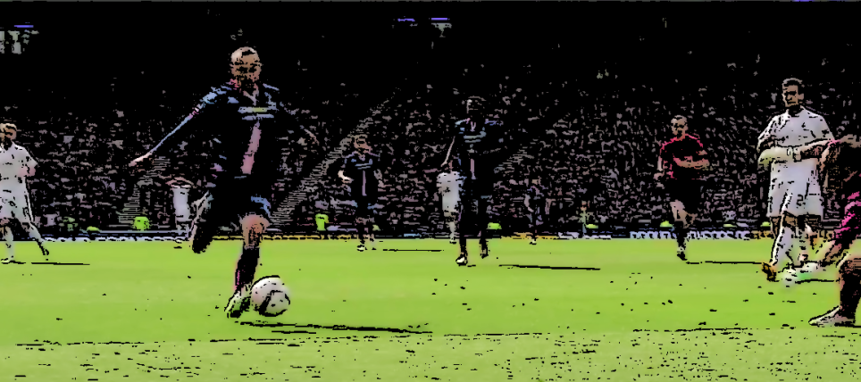 James Vincent scoring the winning goal in the Scottish Cup Final