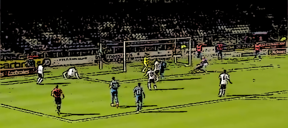 James Vincent opens the scoring v Hearts